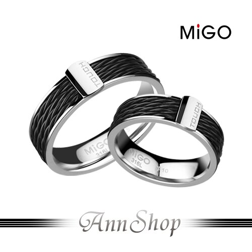 AnnShop~米格MiGO•TOUCH白鋼戒指~情人  情侶對戒SR547~SR548