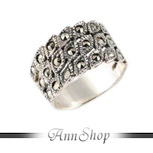 AnnShop【魅力所在純銀戒指•925純銀】小安的店金剛鑽不生鏽銀飾禮品r9064