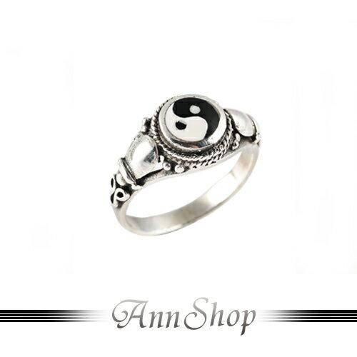 AnnShop【太極純銀戒指•925純銀】小安的店不生鏽開運平安銀飾禮品r9076