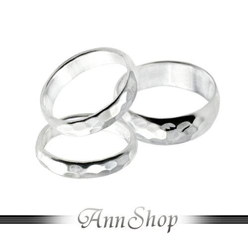 AnnShop【圓弧邊菱格面純銀戒指-中(0.4)•925純銀】小安的店熱賣經典款可刻字珠寶銀飾r9272