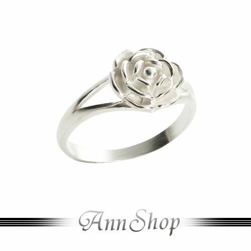 AnnShop【立體玫瑰花純銀戒指•925純銀】小安的店古典花朵尾戒銀飾禮品r91900