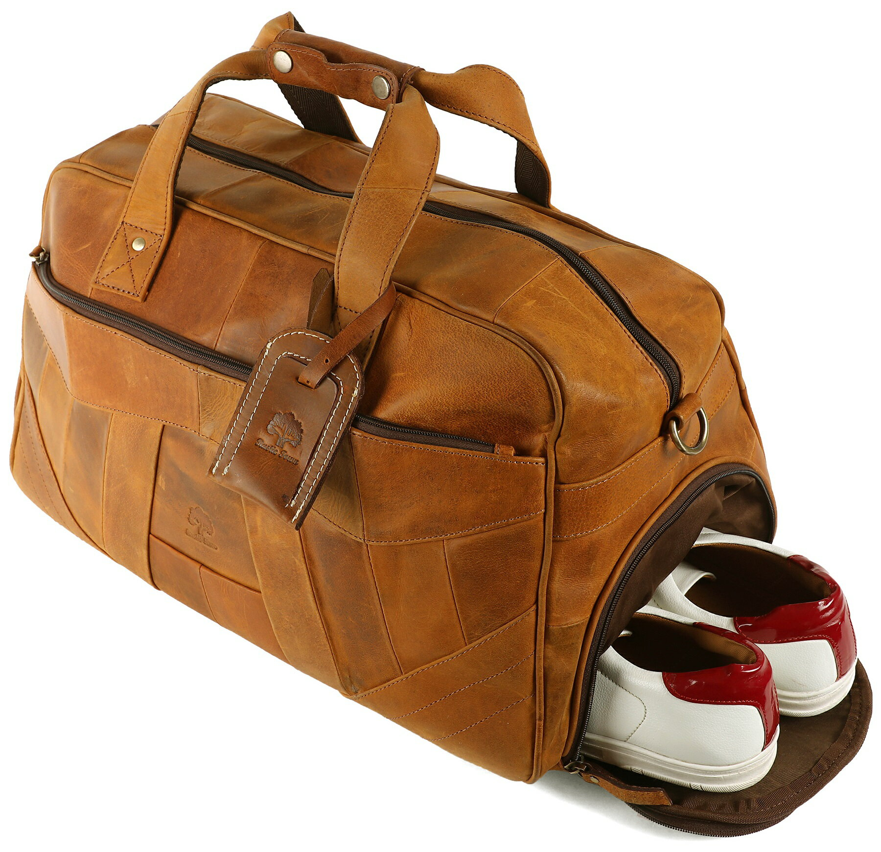 7a1fbf20d32e Rustic Town  Genuine Leather Handmade Duffel Bag For Men
