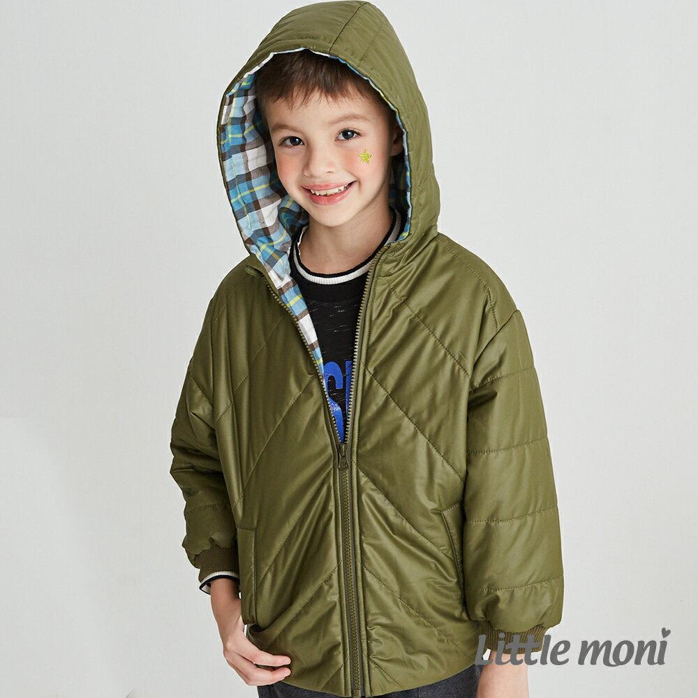 Little moni 3M科技羽絨保暖外套-軍綠(好窩生活節) 1