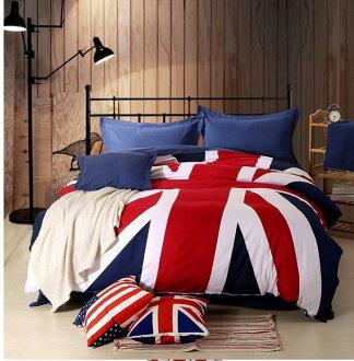 特價 寰宇歐洲風 大不列顛日不落風格 英國國旗夏季棉質床包4件套