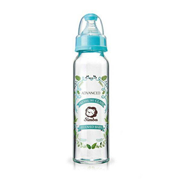 專品藥局 小獅王Simba 蘿蔓晶鑽標準玻璃大奶瓶-240ml (天藍) S69131 (實體簽約店面)【2011967】 1