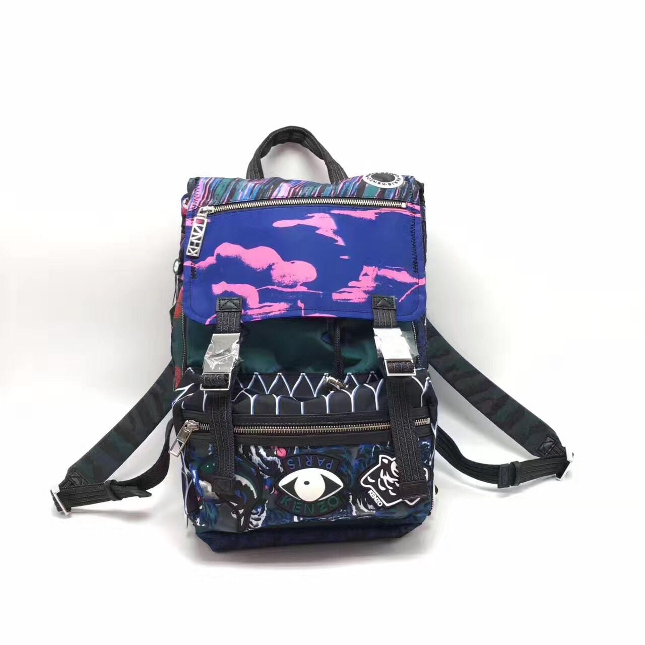 美國正品代購 KENZO-Nylon Multi Print後背包 登山包 外出包 雙肩包 旅行包