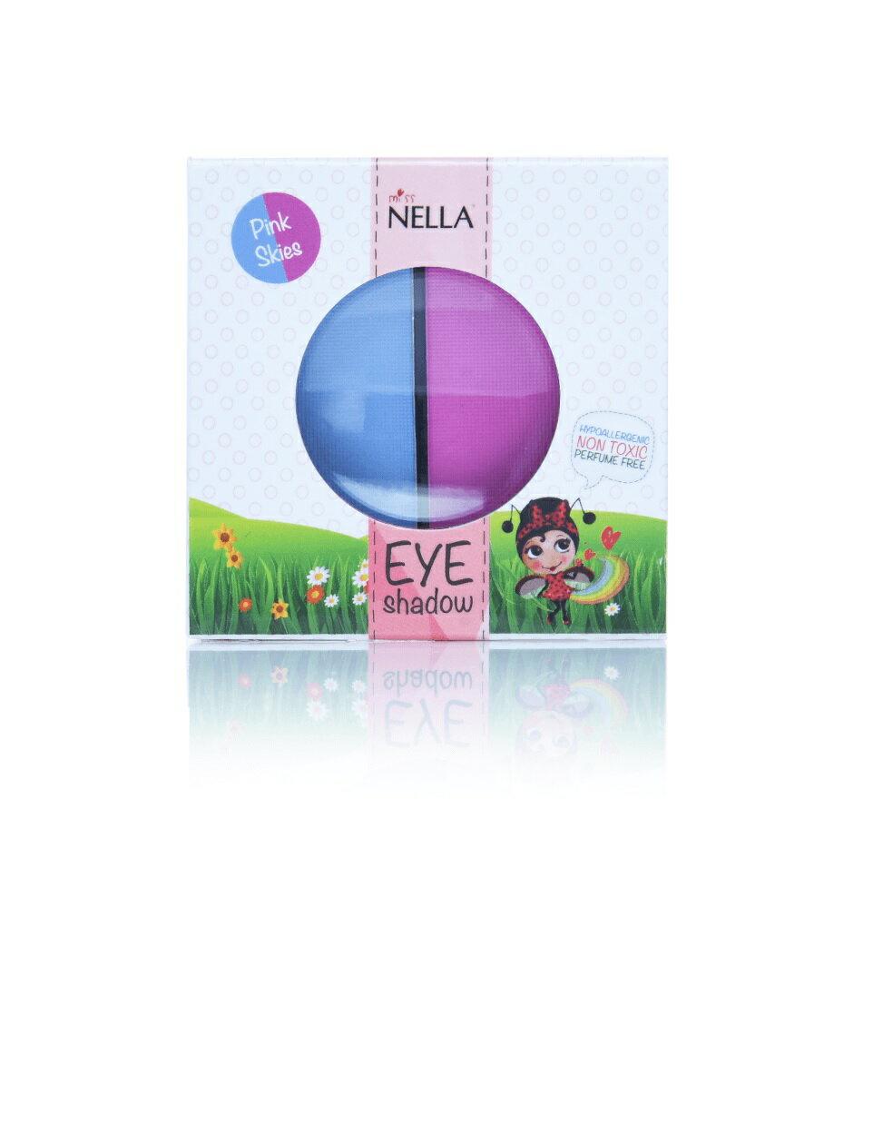 (1800折200) 英國【Miss Nella】妮娜小姐兒童水性眼影-粉紅天空(粉紅 / 藍)  兒童彩妝 1