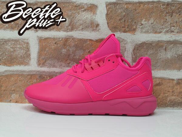 女生BEETLE ADIDAS TUBULAR RUNNER K 愛迪達 粉紅 純色 Y-3平民版 慢跑鞋 S78726 0