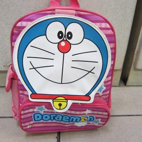 ^~雪黛屋^~哆啦A夢 兒童背包 書包 超輕護脊防水尼龍布 幼稚園書包 DD4183A粉紅