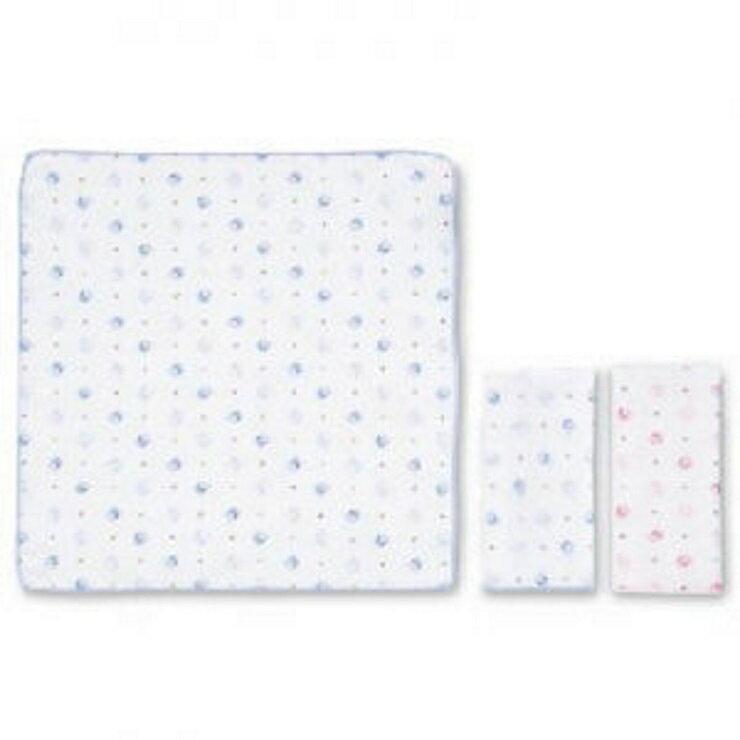 【寶貝樂園】KUKU嬰兒紗巾手帕-3入