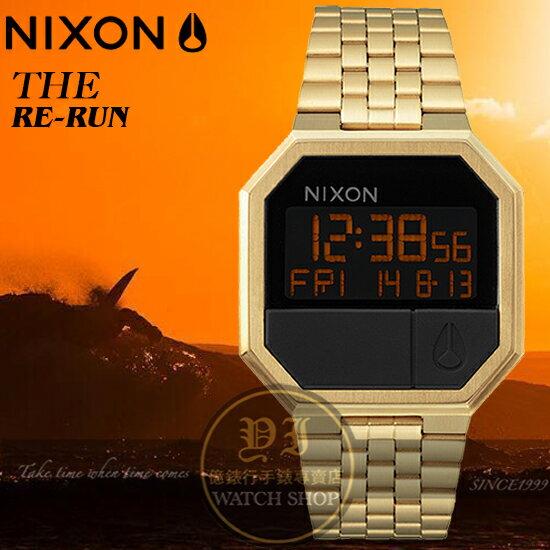 NIXON實體店RE-RUN復古潮流電子腕錶 ALL GOLD/A158-502公司貨/禮物/聖誕節