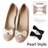 Bonjour夾式Pearl style鞋花★古典珍珠蝴蝶結鞋扣飾F.【ZSD106】2色I. 0