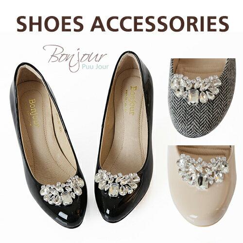 Bonjour進口夾式奢華鞋花★華麗U型水鑽鞋扣飾F.【ZSD107】I. 0