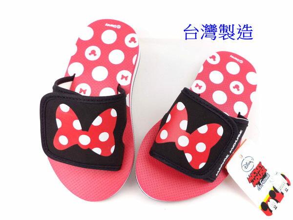 EMMA商城~ Disney迪士尼米妮蝴蝶結可調整輕量拖鞋童鞋紅16~21公分