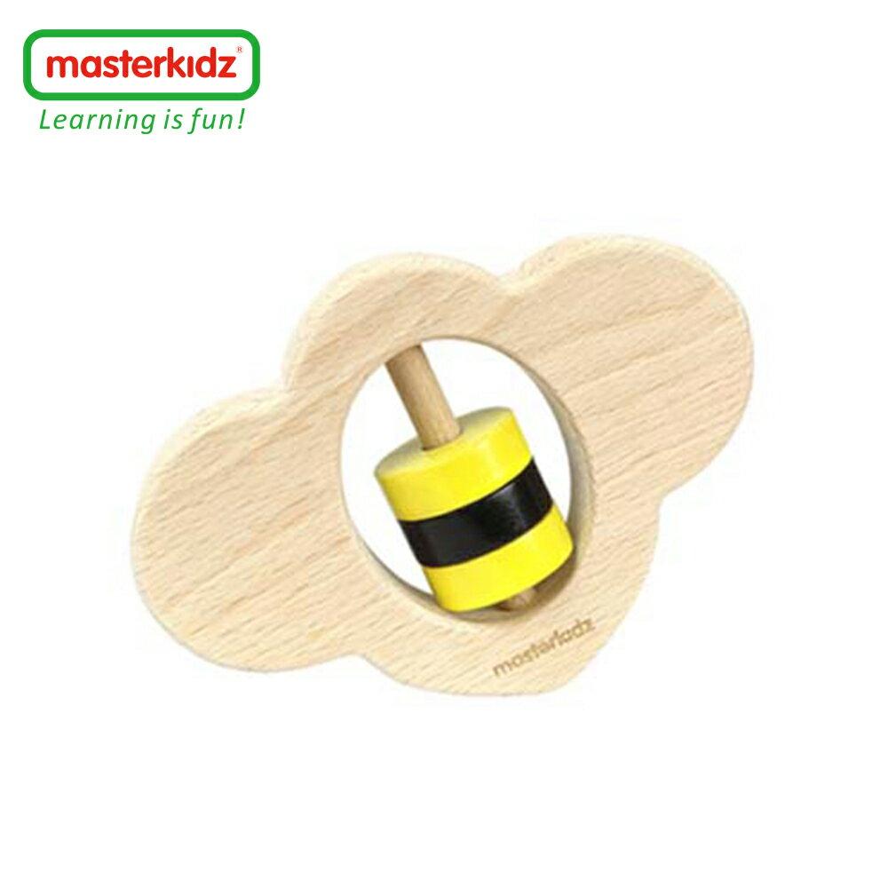 【英國Masterkidz】木製嬰兒手搖玩具-蜜蜂