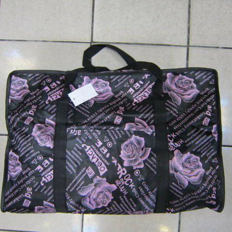 ~雪黛屋~Better 旅行袋簡易型旅行袋防水尼龍布材質可壓扁收納不占空間可手提可肩背 #001 黑-玫瑰粉紅