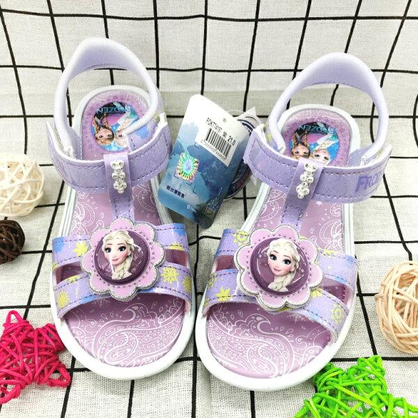 【巷子屋】冰雪奇緣-童款電燈休閒涼鞋[74197]紫MIT台灣製造超值價$200