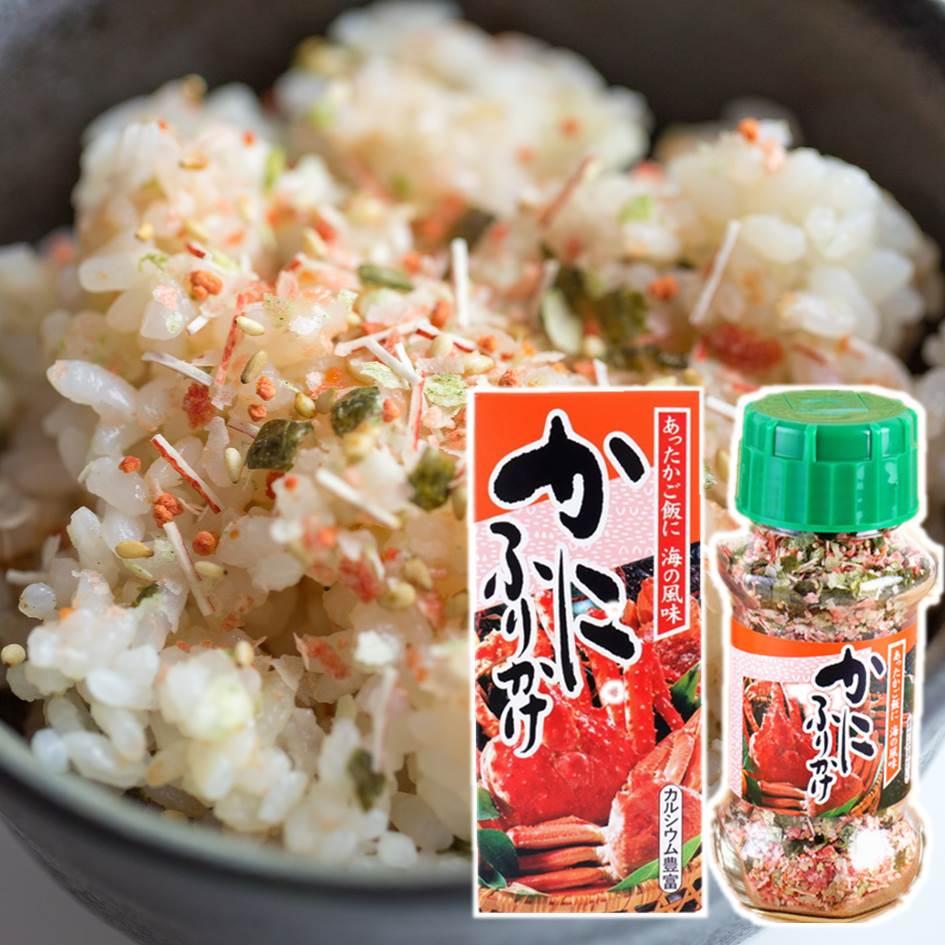 【MINARI】螃蟹風味拌飯料 日式飯友海鮮香鬆 玻璃瓶裝 85g みなり かにふりかけ  美食 常溫配送