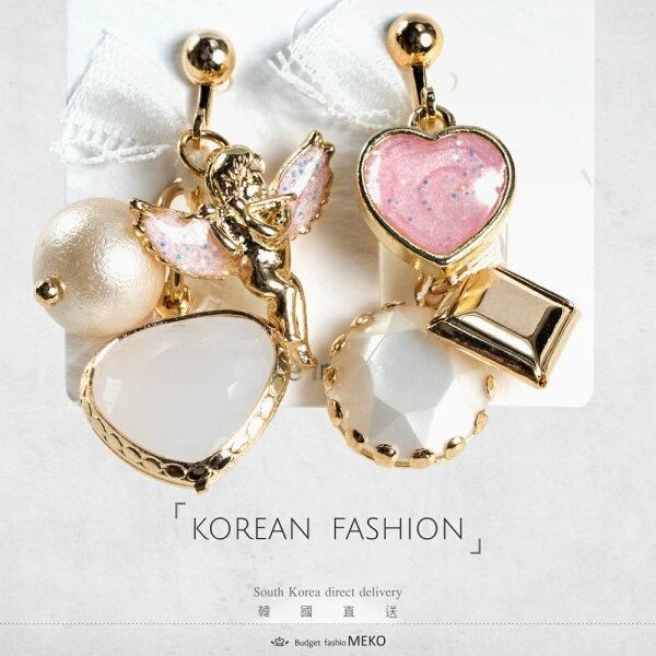 meko美妝生活百貨:心戀珍珠天使(粉)夾式耳環