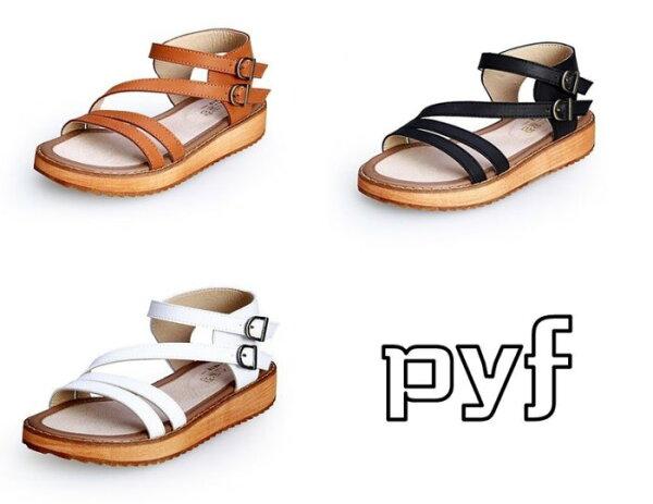 Pyf♥真皮羅馬扣帶涼鞋加大尺碼4445大尺碼女鞋