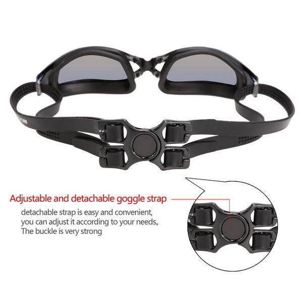 Unisex Adult UV Shield Anti-Fog Underwater Swimming Glasses Goggle 5