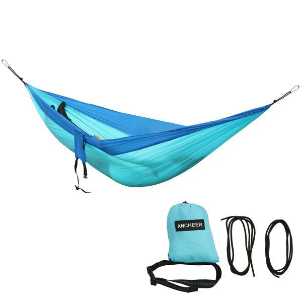 Camping DoubleNest Hammock with Metal Straps 0
