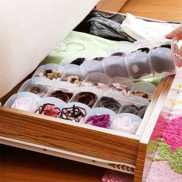 BO雜貨【SV8091】日本製 粉彩5格置物盒 衣物整理盒 多用途整理盒 收納盒 內褲 襪子 毛巾