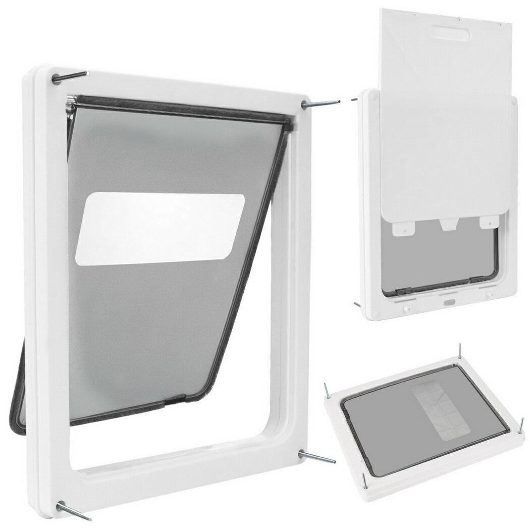 Homdox Large Telescoping Frame Dual Entry Extra Pet Door 1