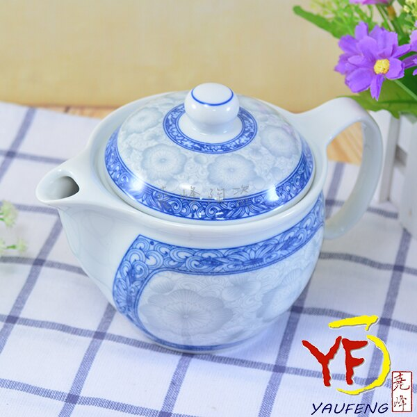 ★堯峰陶瓷★茶具系列 韓國骨瓷 桔梗 茶壺