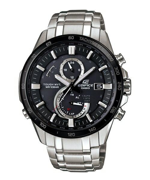 CASIO EDIFICE EQW-A1400DB-1A紳士典範太陽能電波腕錶/黑面45mm