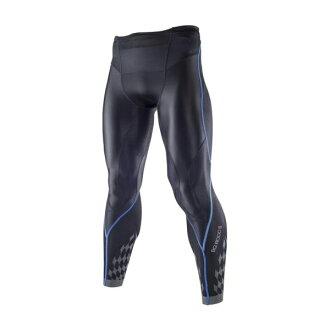 新發售 新進化 BG8000Ⅱ 男緊身褲 K2MJ5B0192(黑*藍)【美津濃MIZUNO】