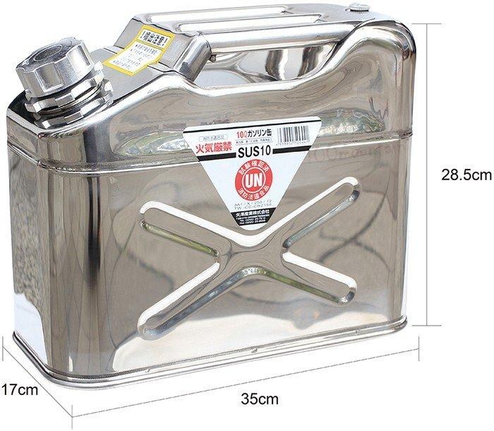 ├登山樂┤日本 YAZAWA 不鏽鋼軍規級儲油桶10L # SUS-10 (新型號CST-10)
