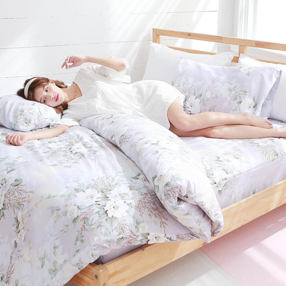 [SN]#L-UB026#細磨毛天絲絨5x6.2尺標準雙人床包+枕套三件組-台灣製(不含被套)