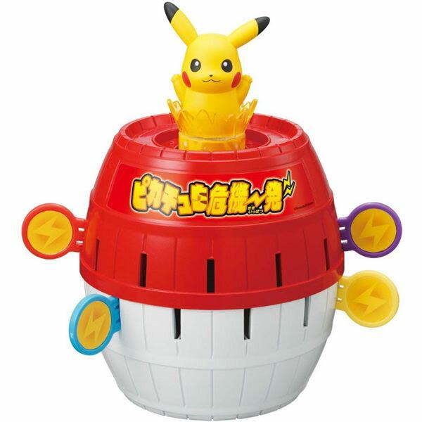 TOMY多美神奇寶貝寶可夢危機一發圓木桶皮卡丘869559 過年玩具