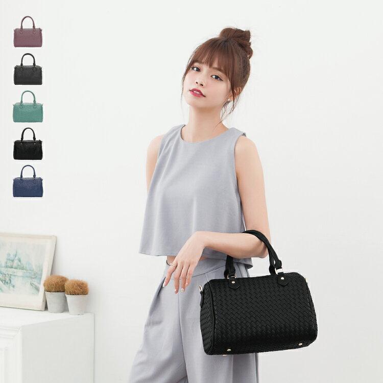 側背包 女包 經典編織系列 休閒氣質款二用手提包 89.Alley ☀5色 3