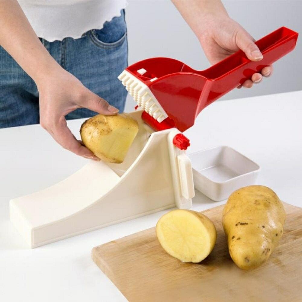 土豆條切條器多功能薯條切塊機 家用手動不銹鋼切蘿卜神器 錢夫人小鋪