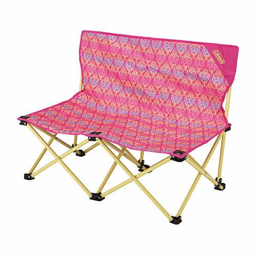 【鄉野情戶外專業】 Coleman |美國|  休閒椅 雙人椅雙人椅摺疊椅 折合椅 折疊椅 長板凳 野餐椅 情人椅-紅葉圖騰_CM-22003M000