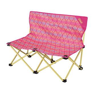 【露營趣】中和安坑 Coleman CM-22003 紅葉圖騰情人椅 折疊椅 摺疊椅 休閒椅 對對椅 童軍椅