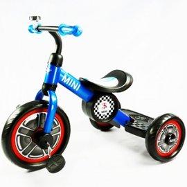 【淘氣寶寶】英國 Mini Cooper 兒童三輪車10吋-激光藍