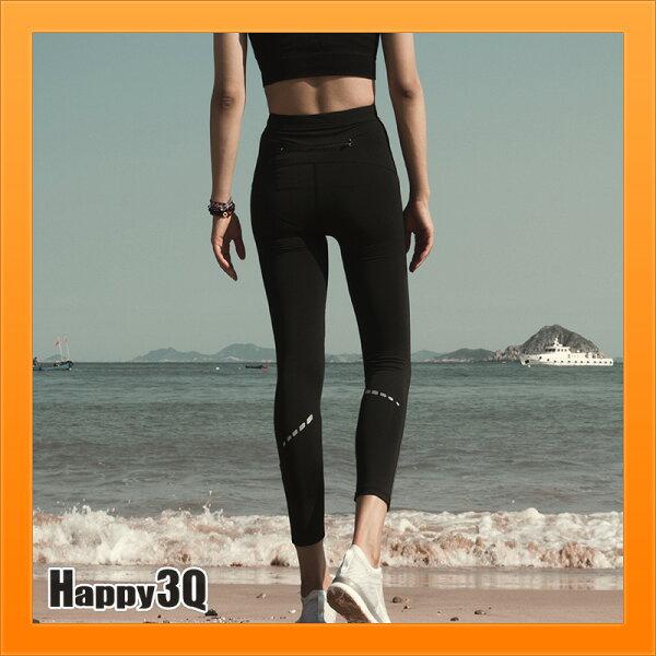 高腰塑身彈力運動褲常褲黑色褲子健身褲瑜珈褲跑步褲子-黑S-XL【AAA4657】