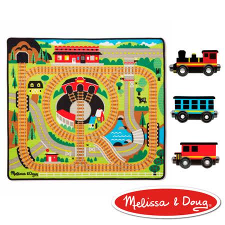 美國瑪莉莎 Melissa & Doug交通遊戲 - 可愛火車環繞鐵路地墊組