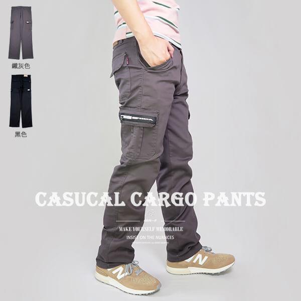 多口袋彈性工作褲休閒長褲多口袋工作長褲側貼袋休閒褲口袋褲工裝褲CARGOPANTSCASUALPANTS(337-2058-21)黑色、(337-2059-22)鐵灰色腰圍MLXL2L3L4L5L(28~41英吋)[實體店面保障]sun-e