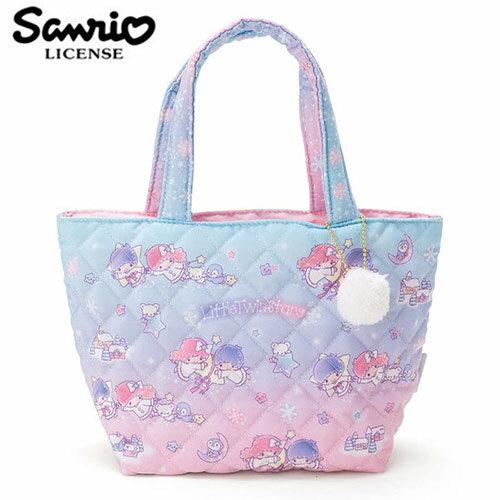 【日本正版】雙子星 菱格紋 手提袋 便當袋 KIKILALA 三麗鷗 Sanrio - 431061