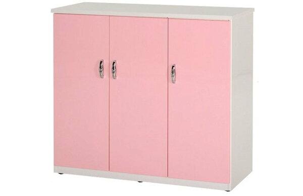 石川家居:【石川家居】861-01(粉紅白色)鞋櫃(CT-316)#訂製預購款式#環保塑鋼P無毒防霉易清潔