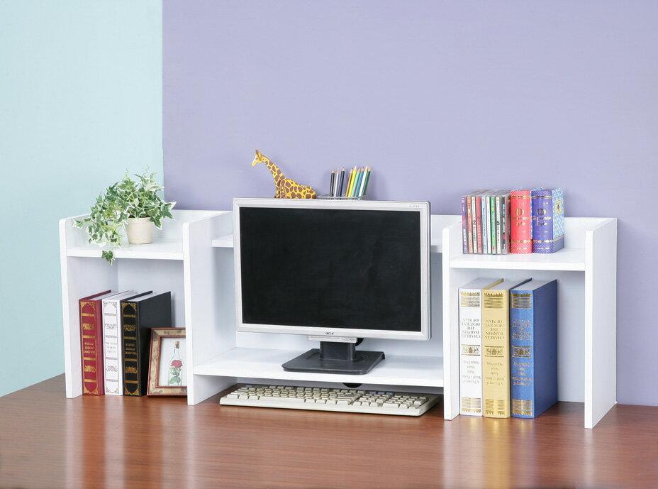 防潑水可疊式螢幕架 書架 桌上架 置物架 電腦桌 收納架~馥葉~ SH1124