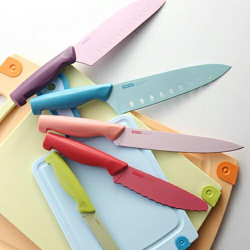 |韓國Neoflam|彩色不鏽鋼刀具7件組|限時5折+免運|水果刀/主廚刀/多功能刀具|部洛客強力推薦