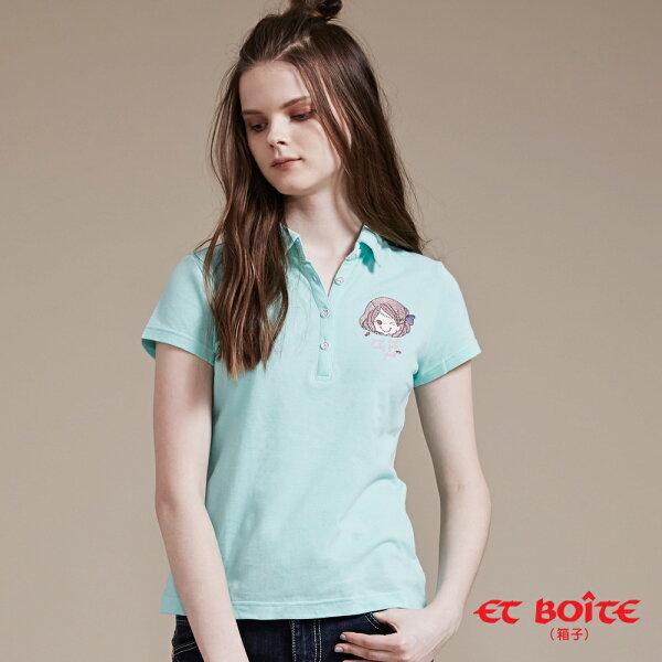 【特價888】Amour個性娃娃POLO短T(薄荷綠)-BLUEWAYETBOiTE箱子