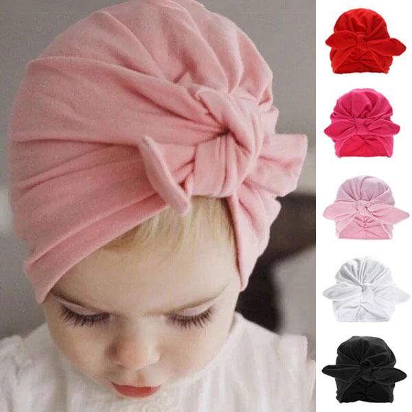 ins 蝴蝶結 印度帽 棉質 胎帽 滿月 軟帽 造型帽 髮帶 遮陽帽 帽子 可愛 民族風 ANNA S.