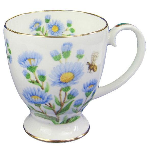 英倫之花系列骨瓷22K金AVON倒三角經典杯-紫菀Michaelmasdaisy