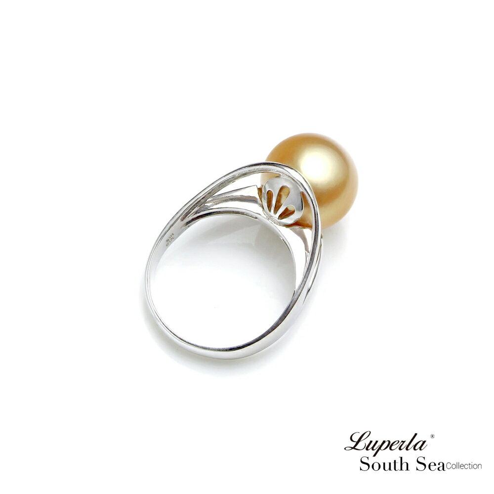 大東山珠寶 奢豪天際 南洋金珠頂級真鑽18K白金戒指 2